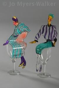 Sitters slumped acrylic sculptures by Jo Myers-Walker