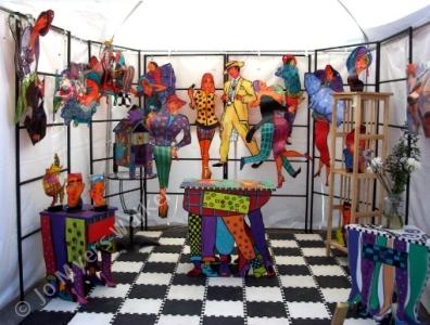 Display of slumped acrylic sculpture by Jo Myers-Walker
