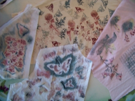 Printing on repurposed fabric from clothing