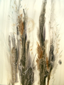 Morning, abstract watercolor painting by Jo Myers-Walker