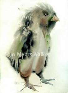 Chick watercolor print by Jo Myers-Walker