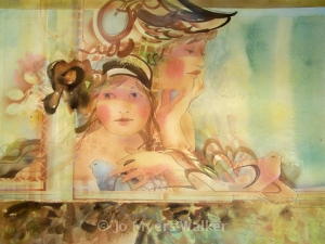 Young Women, watercolor painting by Jo Myers-Walker