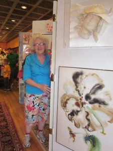 Jo at the 2012 downtown Ames ArtWalk