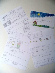 Completed storyboards