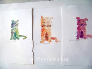 Cats of many colors by Jo Myers-Walker