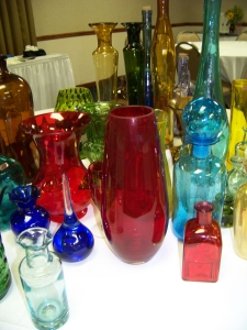 Multicolored glass for painting workshop