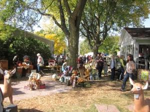 Side yard of JB Knacker, September 29, 2012