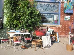Sidewalk in front of The Left Bank Studio, Sept. 29, 2012