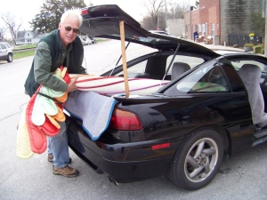 Tree of Hope in hatchback