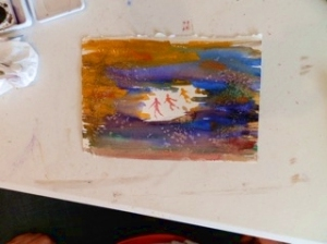Painting from workshop at Sanford Museum