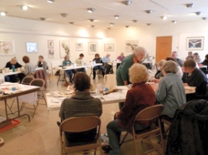 Watercolor workshop at the Sanford Museum