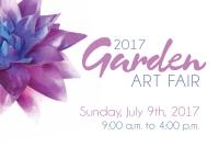 Logo for the 2017 Garden Art Fair at Reiman Gardens, Ames, Iowa