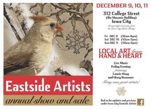 Postcard promoting Eastside Artists Annual Show and Sale 2016