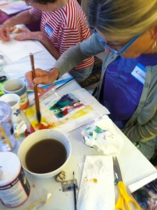 Painting at the Emmaus House workshop