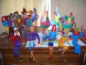 Small slumped-acrylic sculptures by Jo Myers-Walker