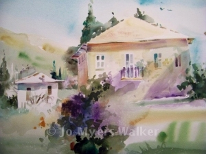 Watercolor painting by Jo Myers-Walker