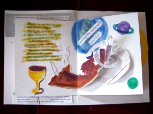3D page from a journal