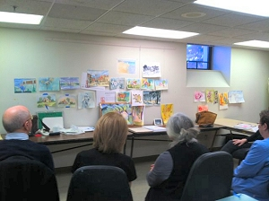 Watercolor and Drawing class at The Center, Iowa City, Iowa