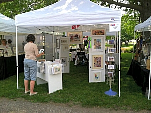 Jo Myers-Walker's booth at the 2014 Linn Creek Arts Festival