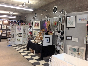 Booth in the Cultural Center at the 2014 Iowa State Fair