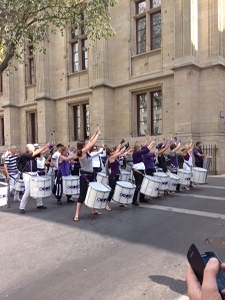 Drum corps on Rouen street