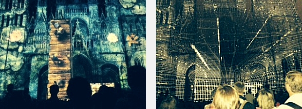 Video projection on the Rouen Cathedral