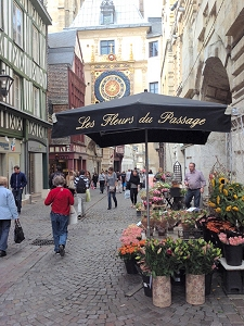 La rue du Gros-Horloge, Rouen