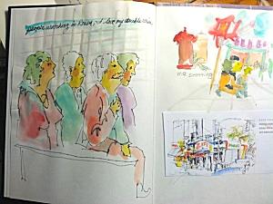 Jo's watercolor journal