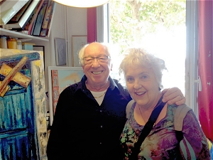 Artist Lionel LaGrange pictured in his studio with Jo Myers-Walker