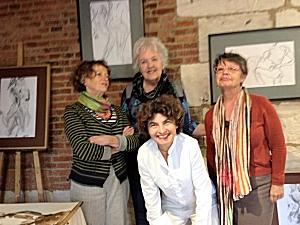 Jo Myers-Walker with Marie-Antoinette Girard, Agnès Dévé, and Adeline Gouarné