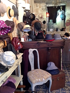 Hats at lovely Rouen shop