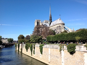 Exterior view of Notre-Dame Cathedral, Paris