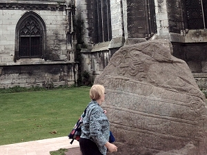 Replica of the Jelling runestone marks Rouen's Viking history