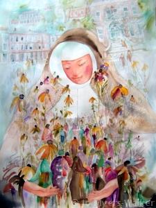 Mother Xavier Termehr, watercolor painting by Jo Myers-Walker