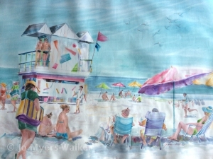 Watercolor painting of Florida beach by Jo Myers-Walker