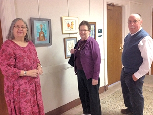 Artists at the opening of the Watercolor Painting Underground exhibit, Iowa City