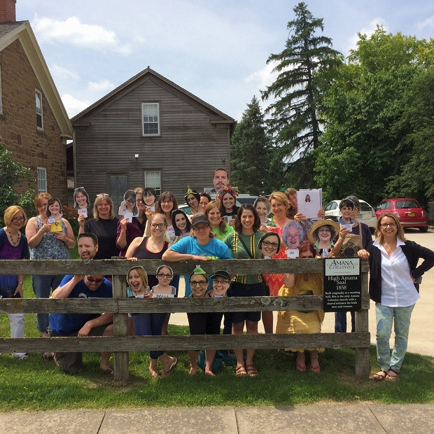 Class members from Art Iowa Workshop, June 2015