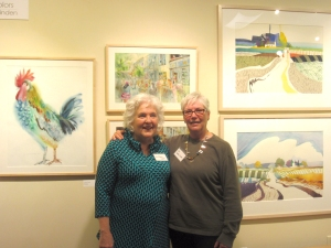 Jo Myers-Walker and Jan Vander Linden at exhibit opening, October 2, 2015