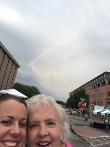 Jo Myers-Walker with daughter Shelby at the 2016 Iowa Arts Festival