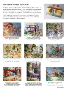 Thumbnail of page showing designs of Abundant Homes notecards