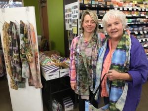 Jo Myers-Walker and friend Eva at Wheatsfield Co-op in Ames, November 2018