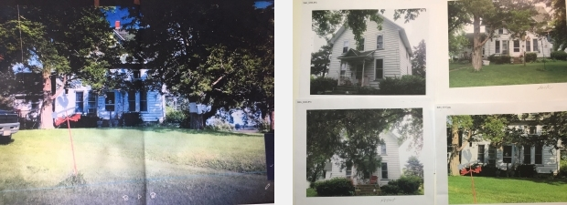 Photos of house used by artist Jo Myers-Walker to create a watercolor painting of it