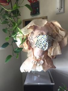Marisa, handmade paper sculpture of a young woman by artist Jo Myers-Walker