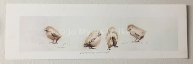 Dinner Group, reproduction print of original watercolor painting of whimsical birds by artist Jo Myers-Walker